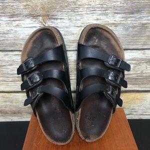Birkenstock Florida 3 strap soft bed sandals 36
